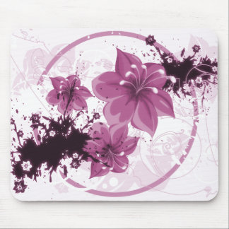 3 Pretty Flowers - Pink Mousepads