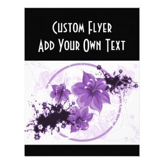 3 Pretty Flowers - Purple 21.5 Cm X 28 Cm Flyer
