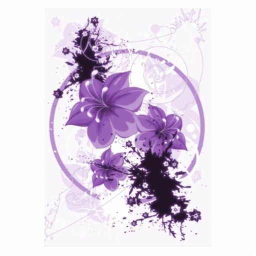 3 Pretty Flowers - Purple Cut Outs