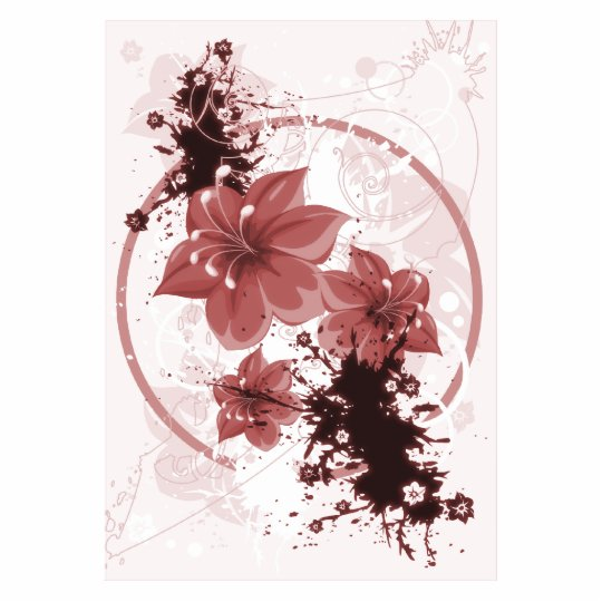 3 Pretty Flowers - Red Photo Sculpture Magnet