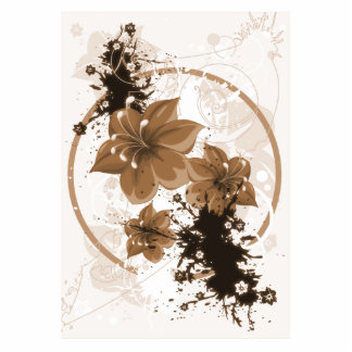 3 Pretty Flowers - Sepia Photo Sculptures