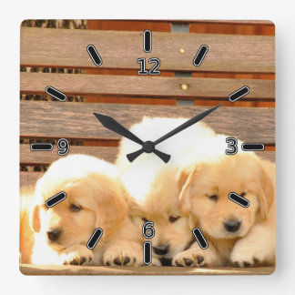3 Puppies Clock (With Numbers)