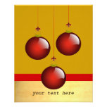 3 Red Ornaments Personalized Flyer