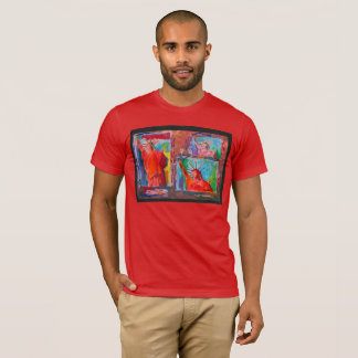 3 Red Statue of liberty t-shirt