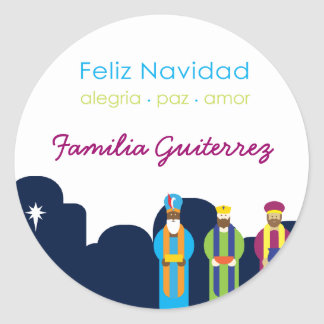 3 Reyes Greeting Sticker