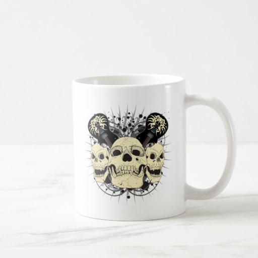 3 Rock n Roll Skulls Mug