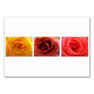 3 Roses Table Card