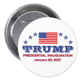 "3"" Round Button Trump Presidential Inauguration"