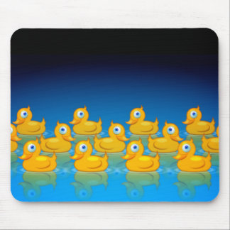 3 rows of rubber ducks mouse pad