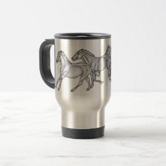3 Running Horses BABBS Travel Mug