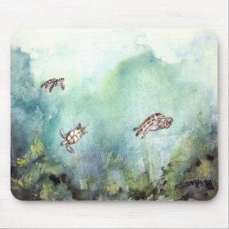 3_sea_turtles_painting mouse pad