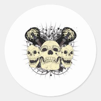 3 Skull Guitars Stickers