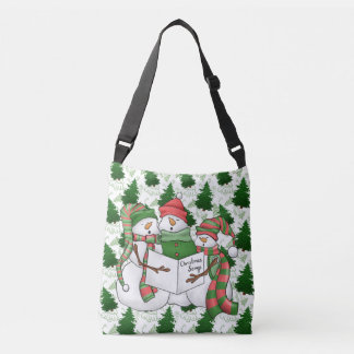 3 Snowman Carolers Crossbody Bag