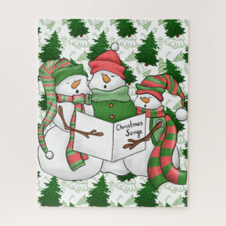 3 Snowman Carolers Jigsaw Puzzle
