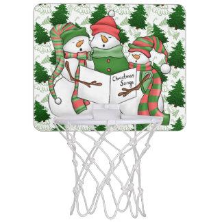 3 Snowman Carolers Mini Basketball Hoop