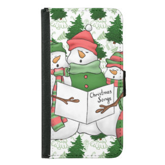 3 Snowman Carolers Samsung Galaxy S5 Wallet Case