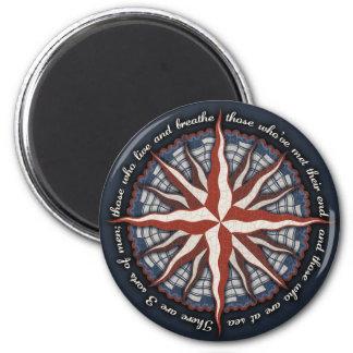 3 Sorts of Men 6 Cm Round Magnet