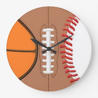 3 Sport Ball Wall Clock