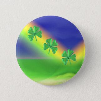 3 St. Patrick's Day 4-Leaf Clovers 6 Cm Round Badge