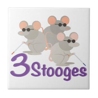3 Stooges Small Square Tile