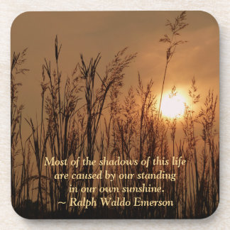 #3 Sun Wheat Field Personal Quote Cork Coas Coaster