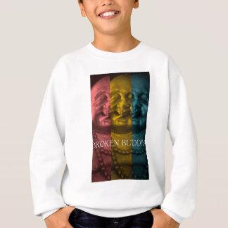 3 times the  broken buddha sweatshirt