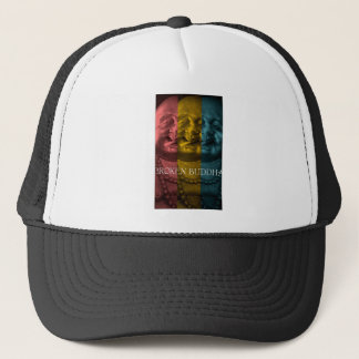 3 times the  broken buddha trucker hat