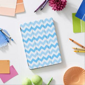 3 Tone Blue Zig Zag iPad Pro Cover