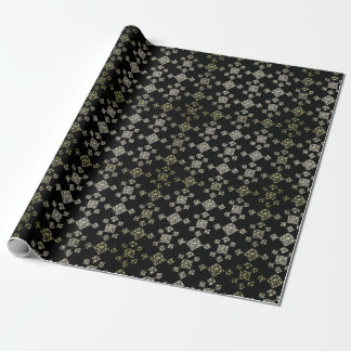 3 tone grey tile criss-cross wrapping paper