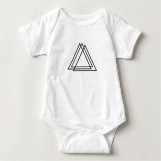 3 triangles baby bodysuit
