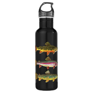 3 Trout for a Fisherman or Fisherwoman 710 Ml Water Bottle