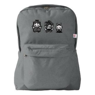 3 unfortunate orphans big sketch bag backpack