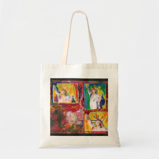 3 USA statue of liberty painting bags