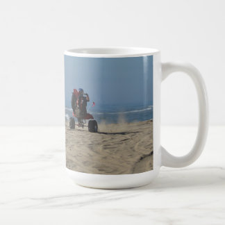 3 Wheelers riding Wheelies at the Beach! Coffee Mug