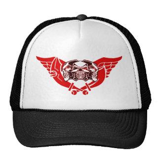 3 winged skulls trucker hat