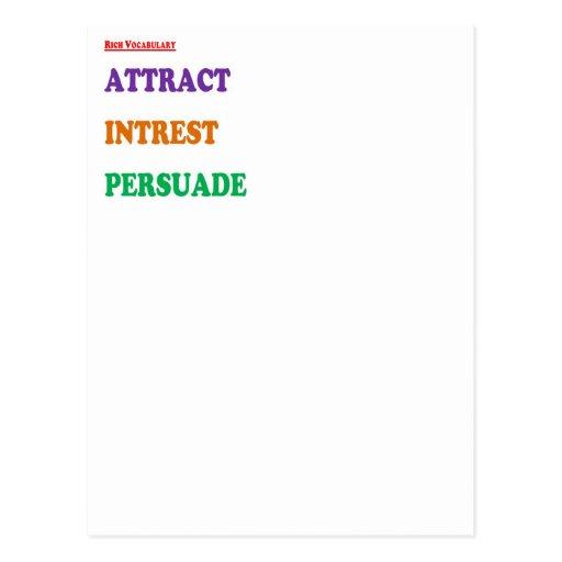 3 Wisdom Word Agenda : Personality Development Post Cards