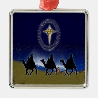 3 Wise Men & Star of Bethlehem Christmas Ornament