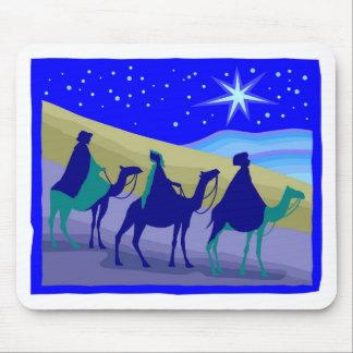 3 Wisemen on camels Christian artwork Mouse Pad