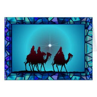 3 WISEMEN,STAR & BORDER by SHARON SHARPE Card