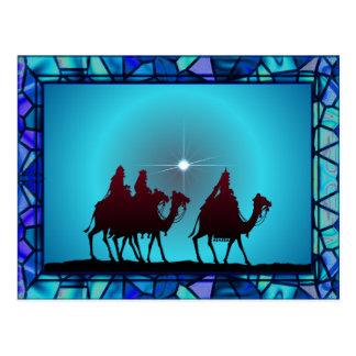 3 WISEMEN,STAR & BORDER by SHARON SHARPE Postcard
