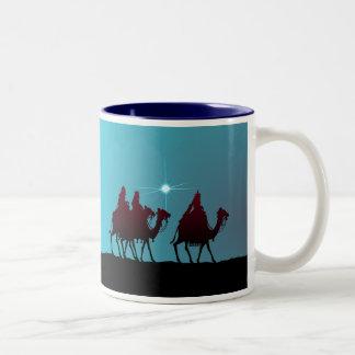 3 WISEMEN & STAR by SHARON SHARPE Two-Tone Coffee Mug
