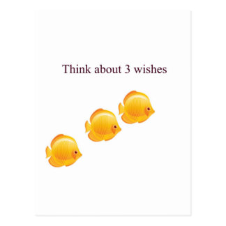3 wishes postcard