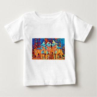3 Wolves Singing Baby T-Shirt