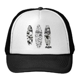 3 Woodcuts Hats