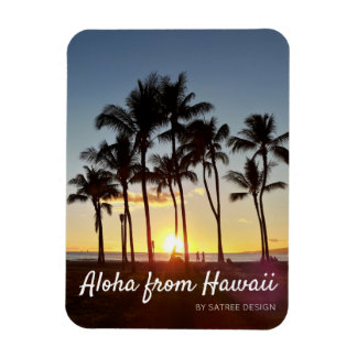 "3"" X 4"" Hawaiian Sunset Photo Magnet"