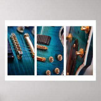 3 x guitars poster