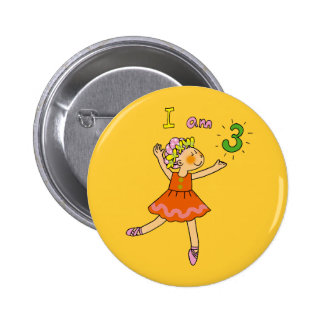 3 year old ballerina button