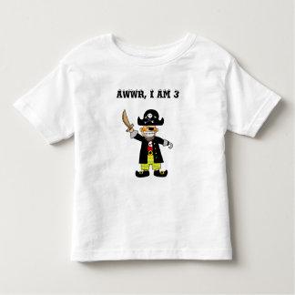 3 year old pirate boy toddler T-Shirt