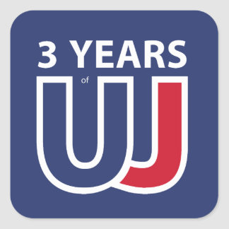 3 Years Of Union J ack Square Sticker