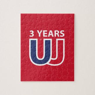 3 Years of Union Jack Jigsaw Puzzle